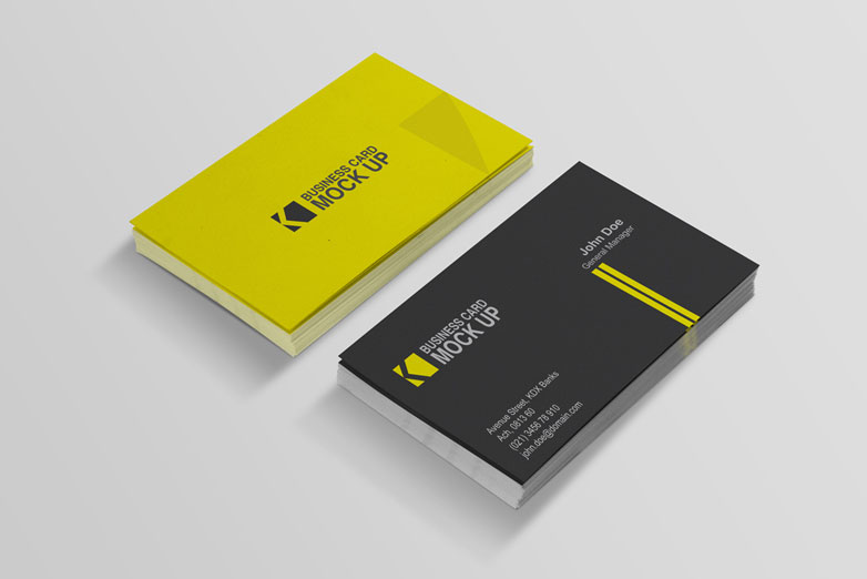 40 really creative business card templates webdesigner depot business card mockups 4 cardmockup23 flashek Images