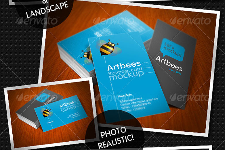40 really creative business card templates webdesigner depot business card mockup pack 7 cardmockup24 flashek Gallery
