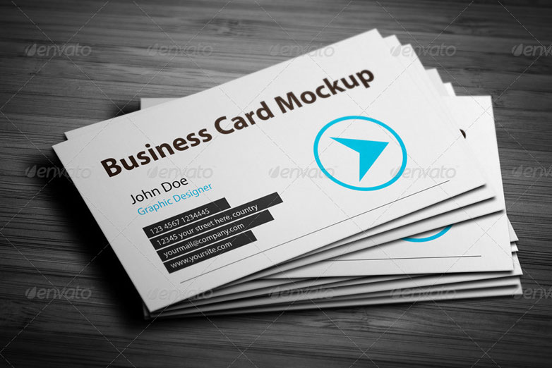 40 really creative business card templates webdesigner depot business card mockup 7 wajeb Image collections