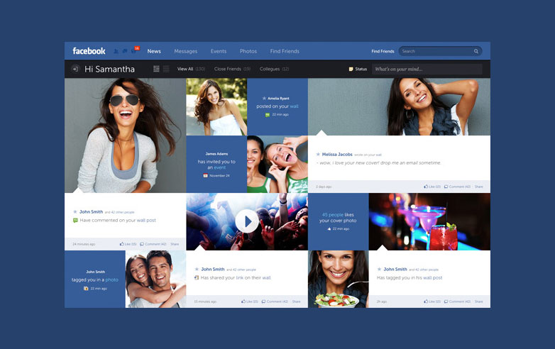 Fred Nerby Facebook redesign