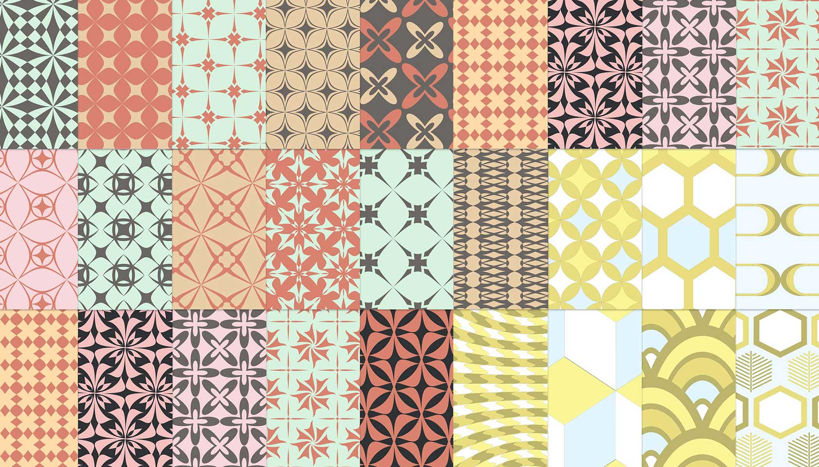 Free download: 25 free retro patterns