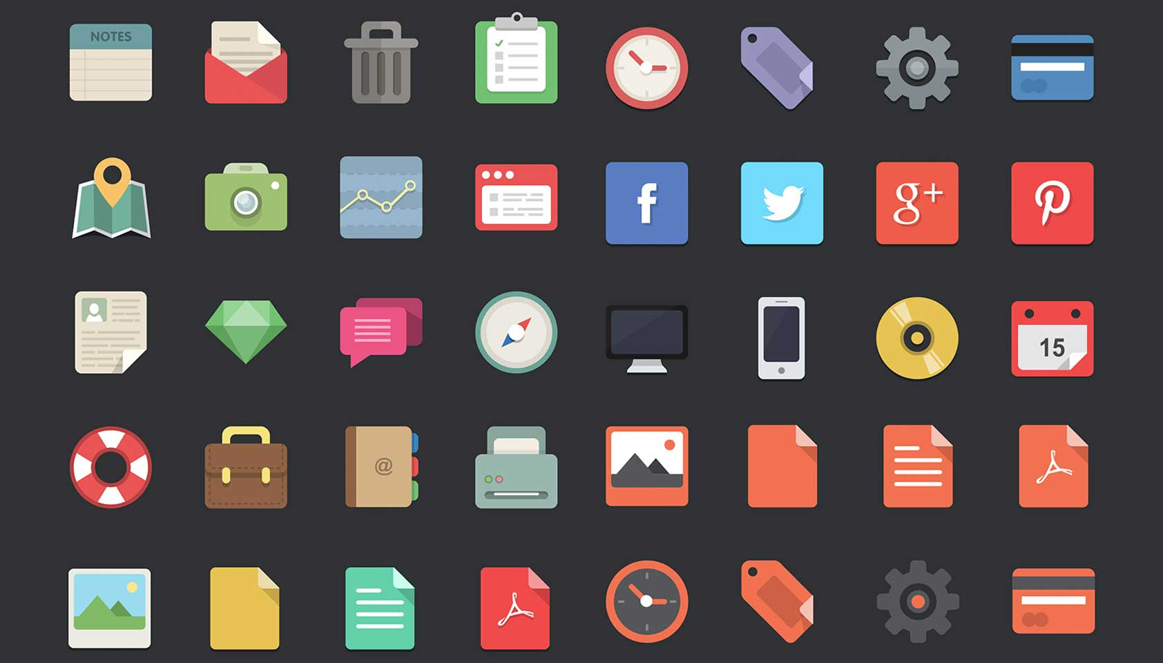 free download 48 flat designer icons webdesigner depot