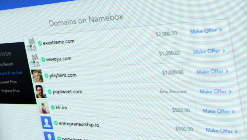 Sell your domains with Namebox