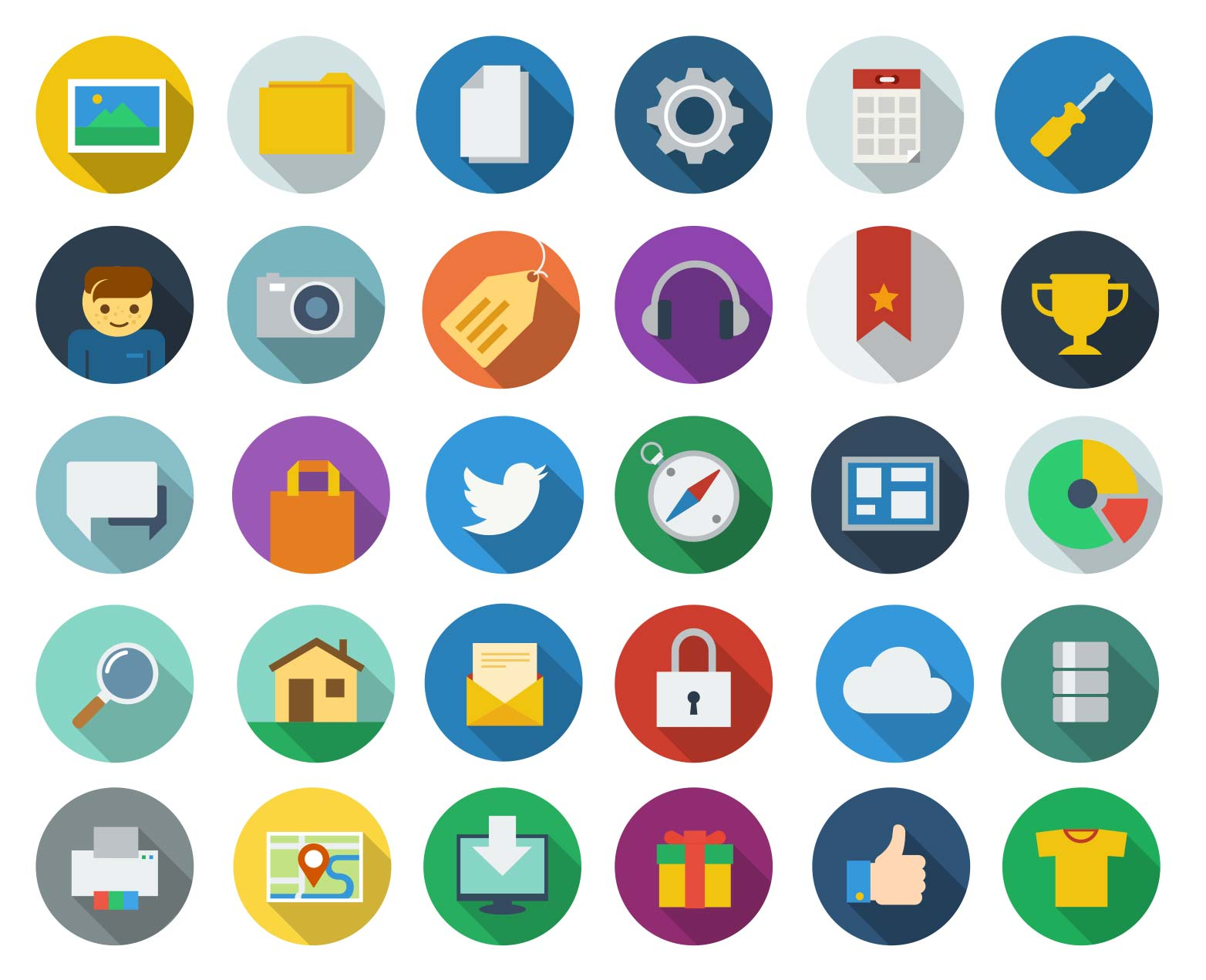 Free download modern long shadow icons webdesigner depot ico003 altavistaventures Choice Image