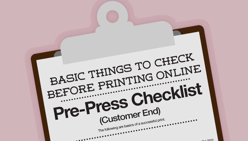 Things to check before printing online