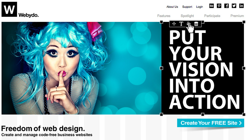 Review: Create websites with Webydo