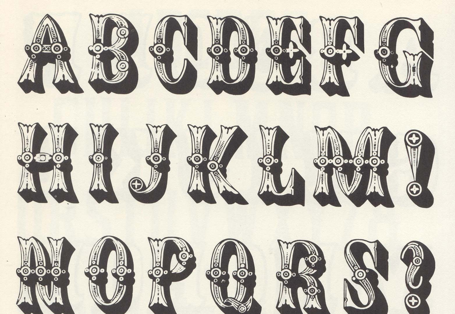 80 Free Wood Type Alphabets