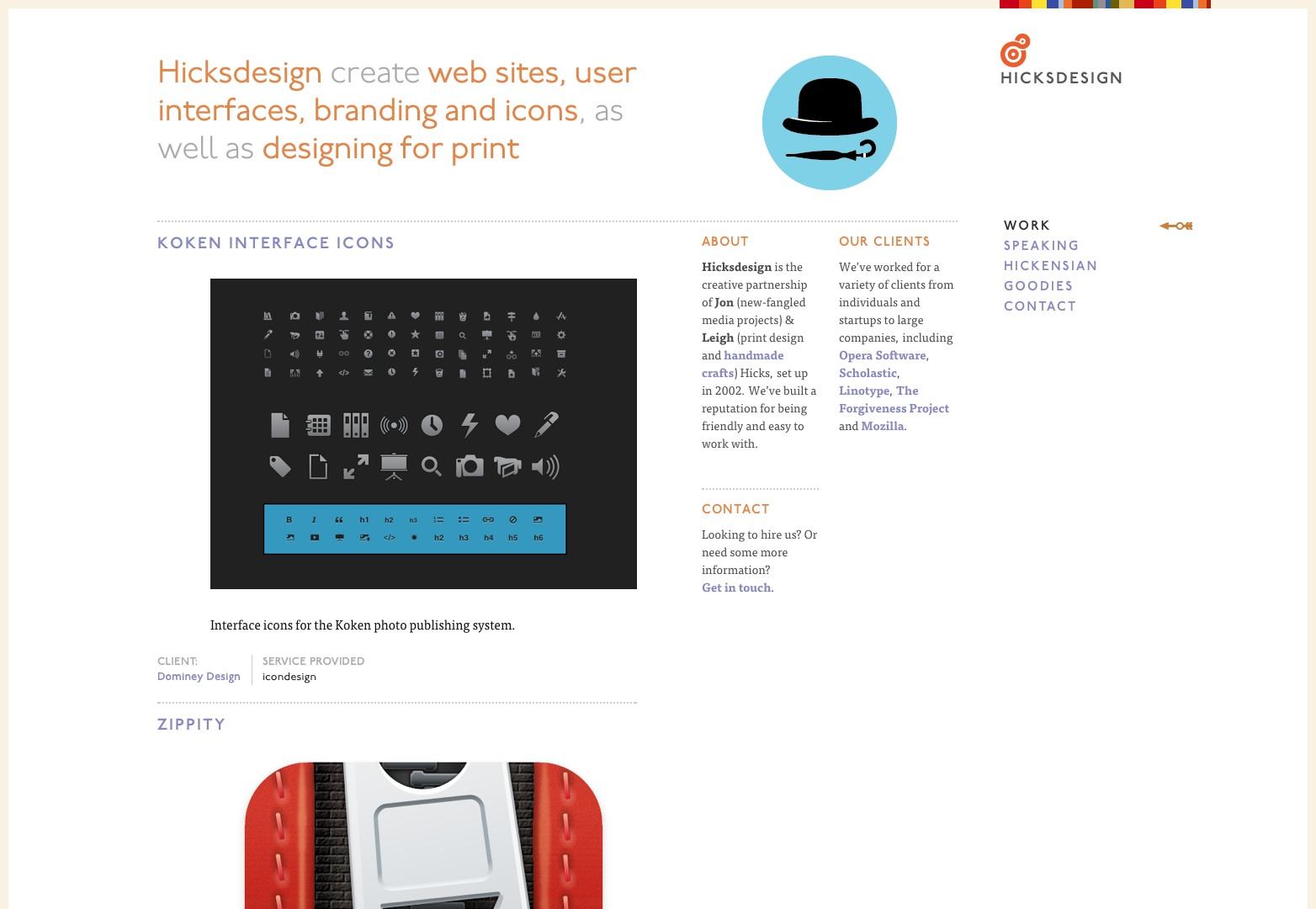 Hicksdesign: design for new-fangled media