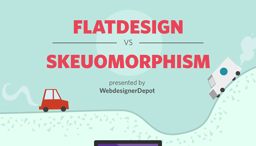 Infographic: Flat design vs. skeuomorphism