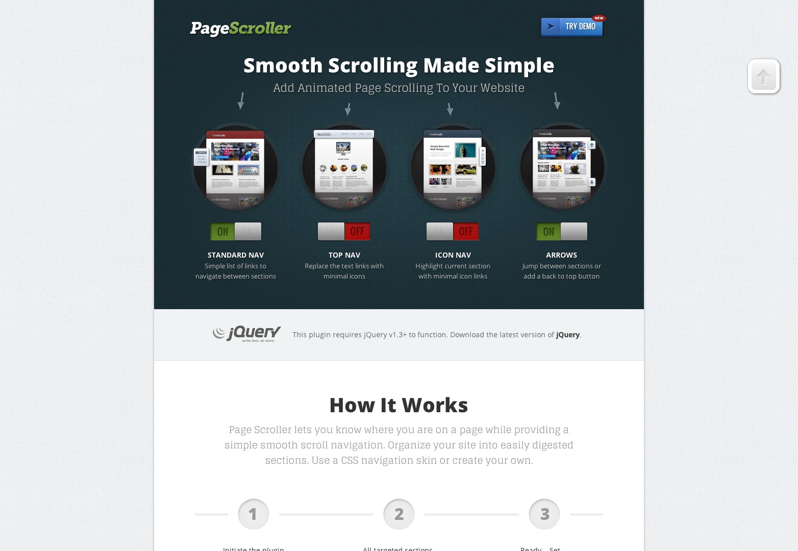 jQuery Smooth Scrolling Plugin | Page Scroller
