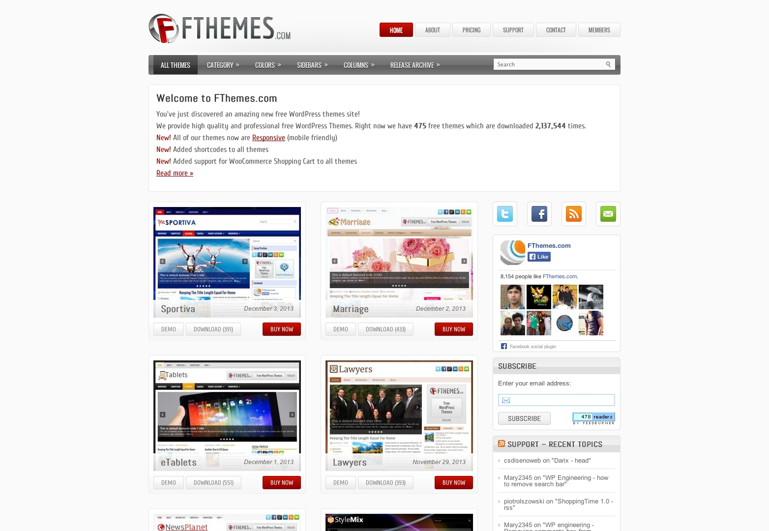 Free WordPress Themes and WordPress Templates by FThemes.com