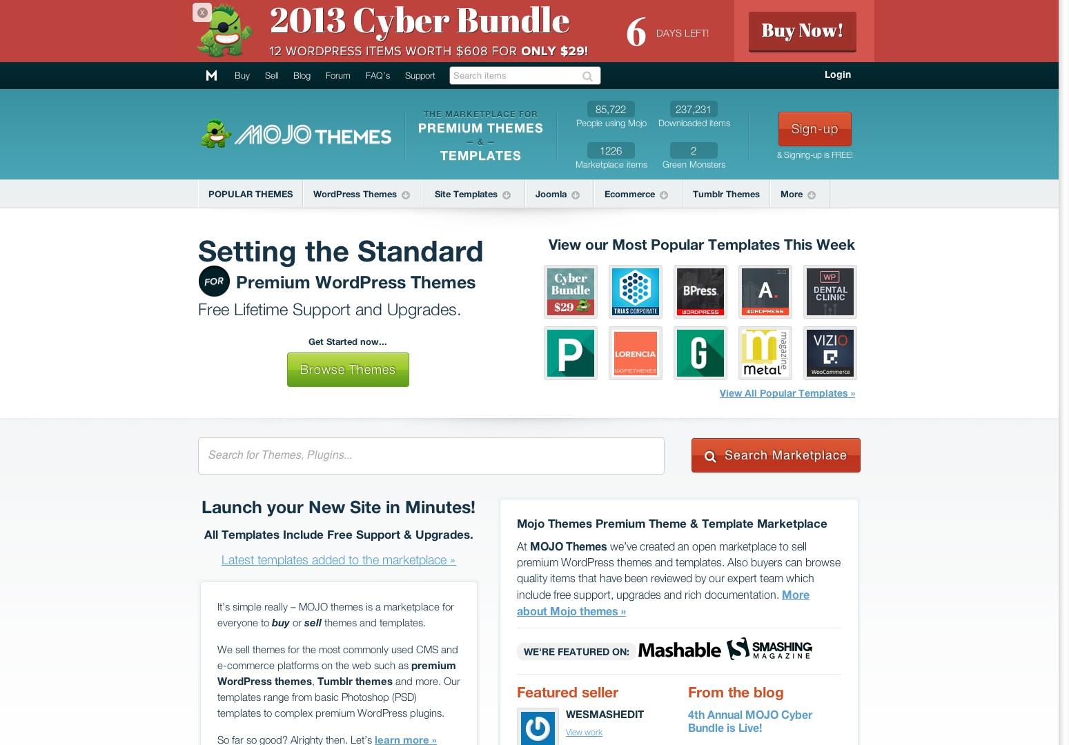 Premium WordPress Themes | Premium Templates | Mojo Themes