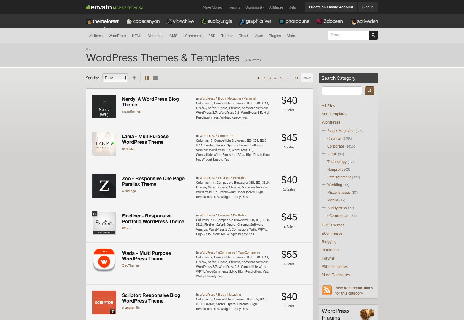 Premium WordPress Themes & WordPress Templates | ThemeForest