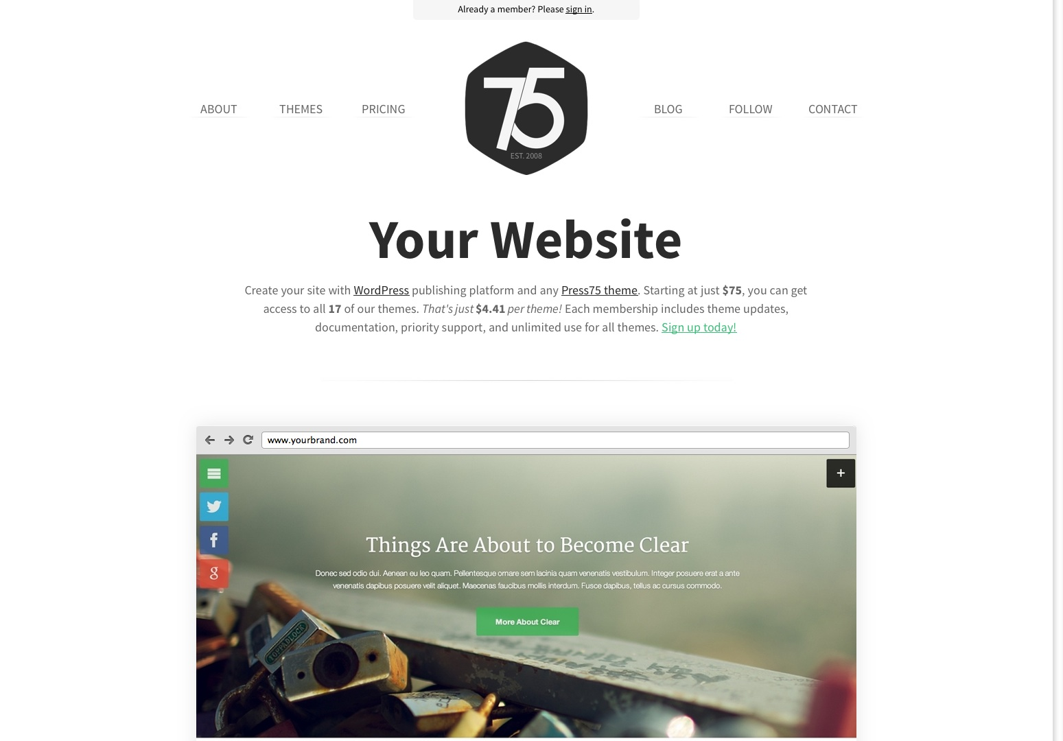Premium WordPress Themes by Press75