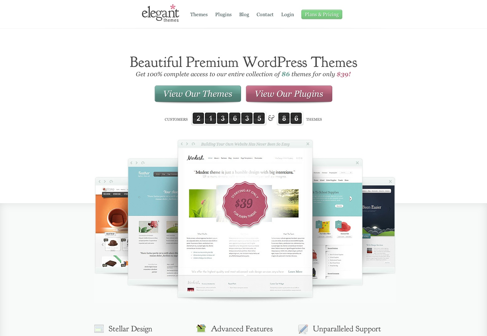 WordPress Themes Loved By Over 200k Customers