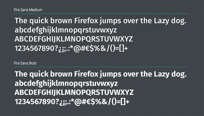 Firefox makes Fira Sans available for free