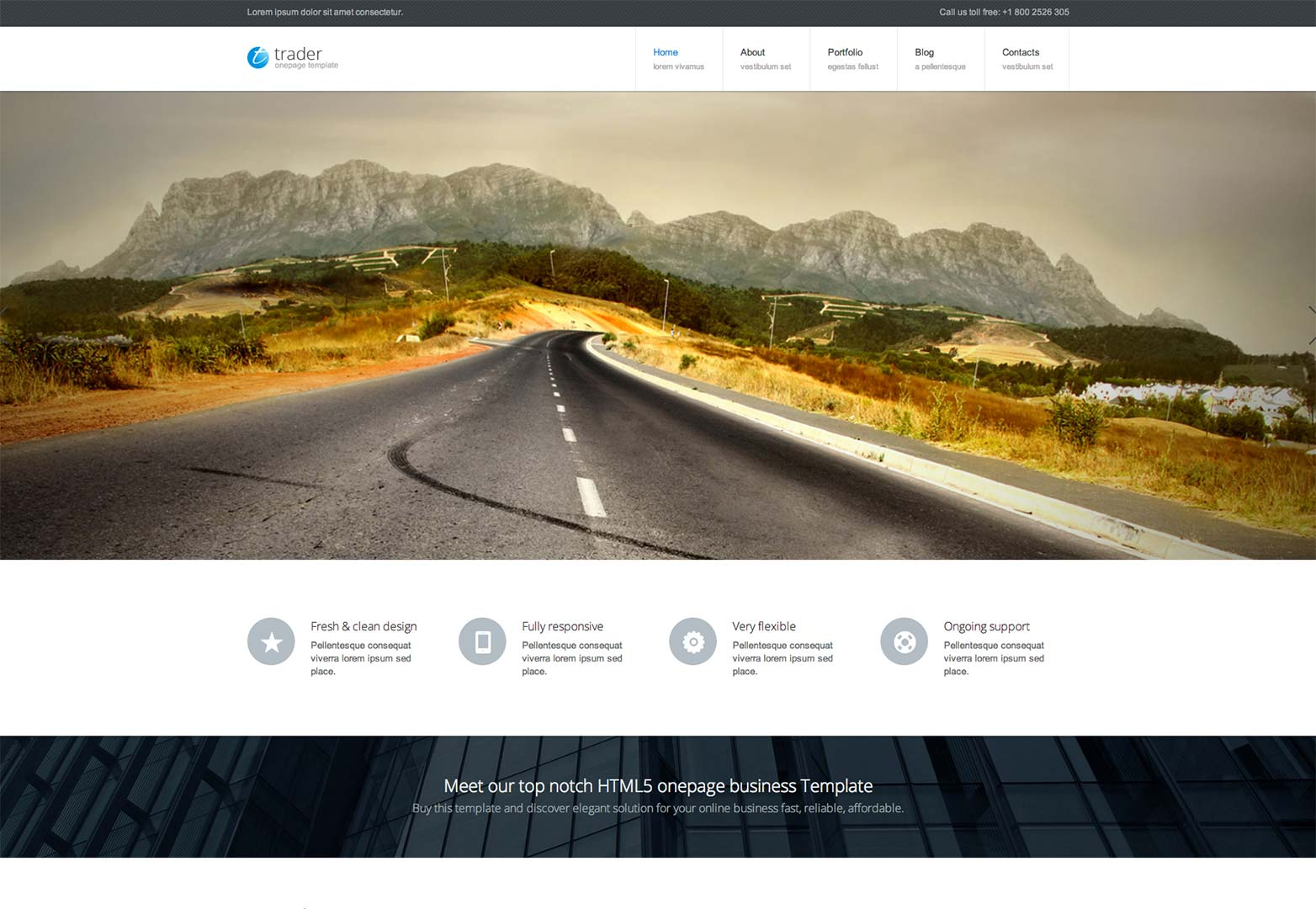 deal of the week bundle of one page parallax bootstrap 3 0