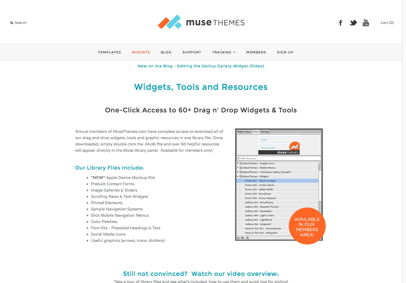 Adobe Muse Widgets Tools and Resources - by Muse Themes