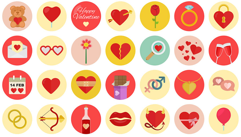 Free download: 40 Valentine's icons