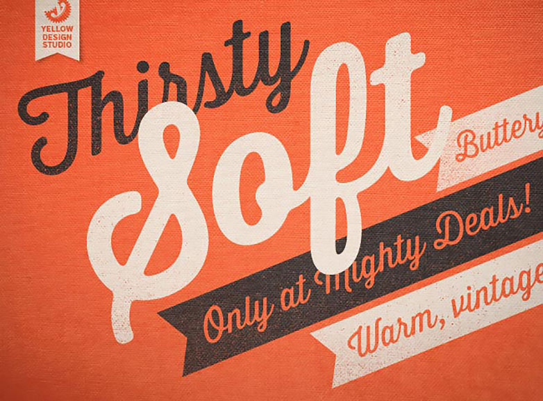 Deal of the week: Exclusive new Thirsty Soft font family