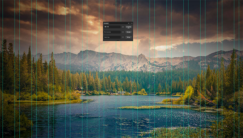 Awesome free extension Griddify solves the grid issue in Photoshop