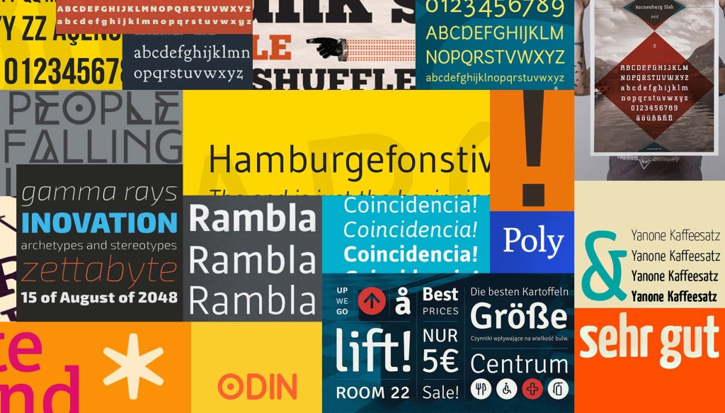 101 essential free fonts for web designers