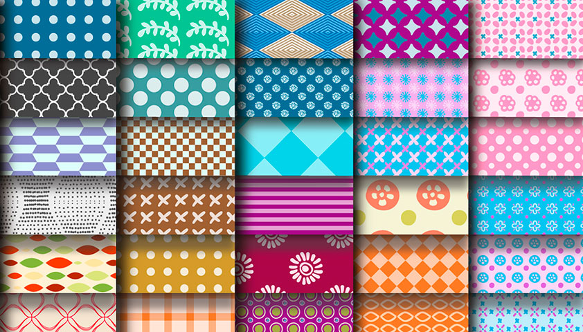 Free download: 100 repeating vector patterns from freepik.com