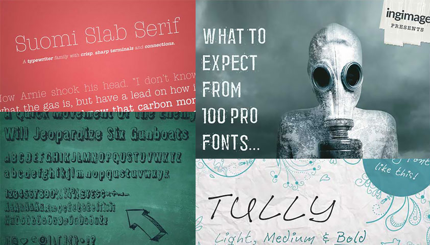 Deal of the week: 100 professional fonts designed by Ingimage