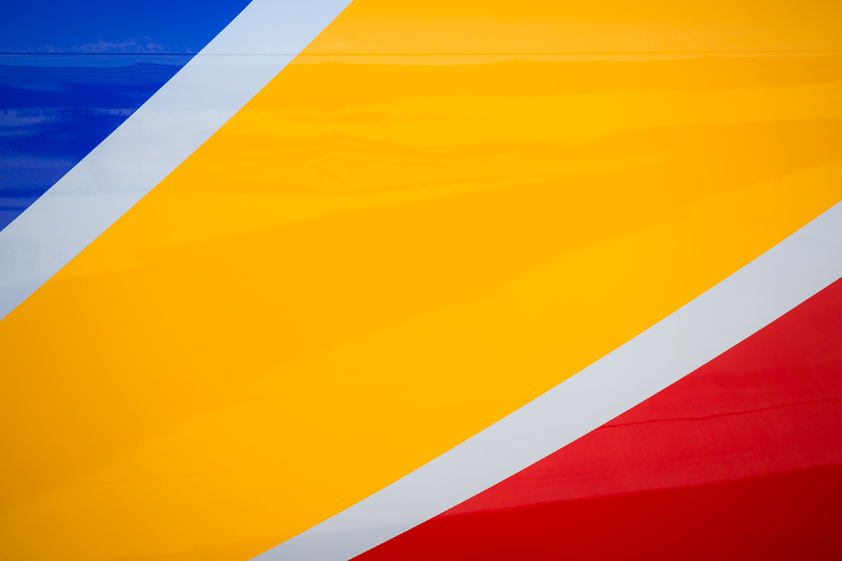 southwest airlines color palette