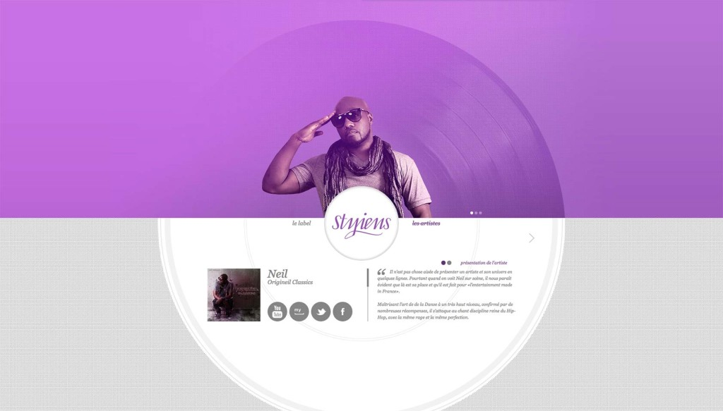 How to use circles in website design