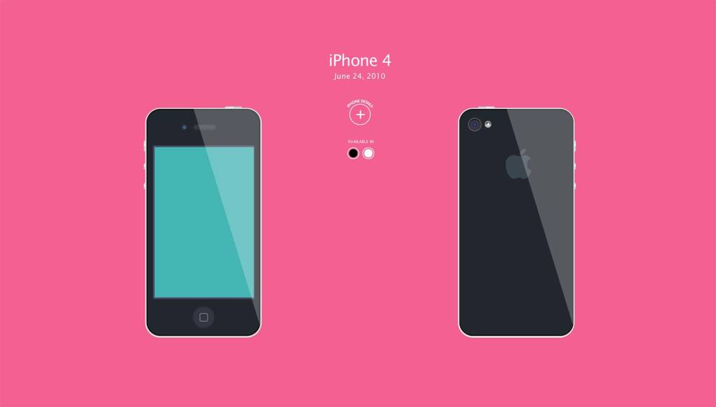 Amazing animated history of the iPhone in pure CSS