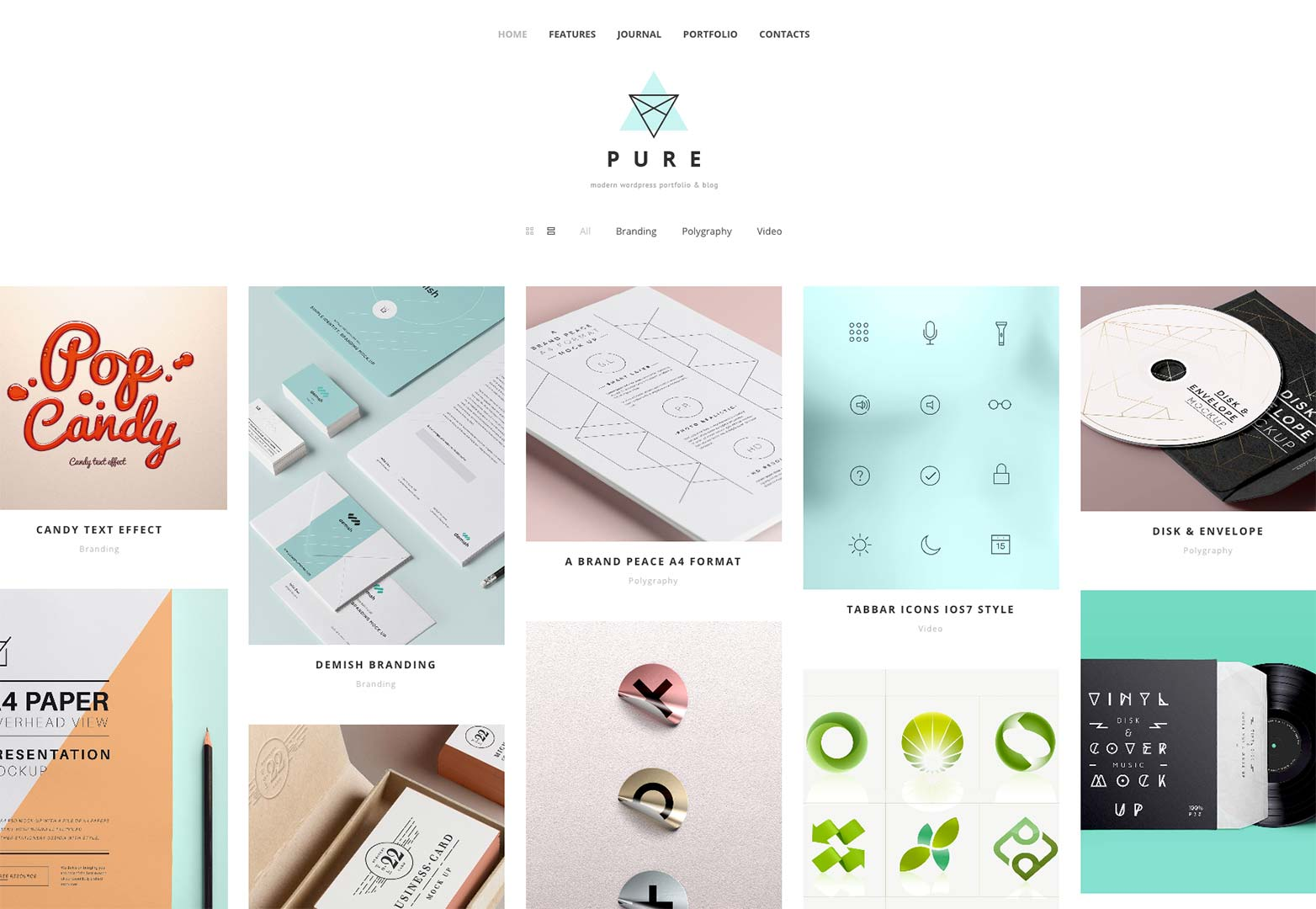 Free download pure wordpress theme webdesigner depot as well as the dedicated portfolio option theres also the journal with substantial space given over to images maxwellsz