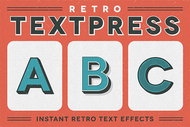 Deal of the week: Retro Textpress, 20 retro text effects for