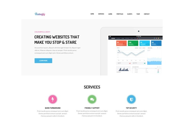 butterfly-free-bootstrap-theme-graphicburger