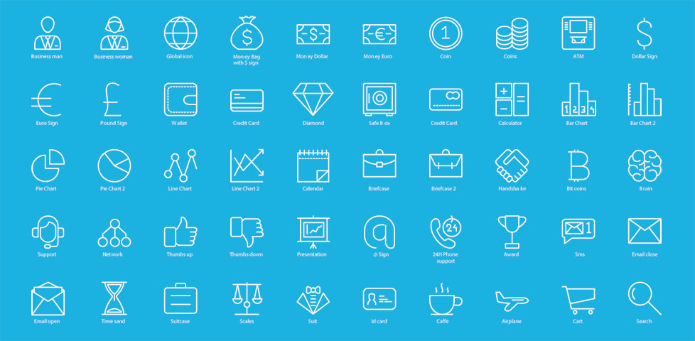 Free download: 60 business icons by Icons Mind
