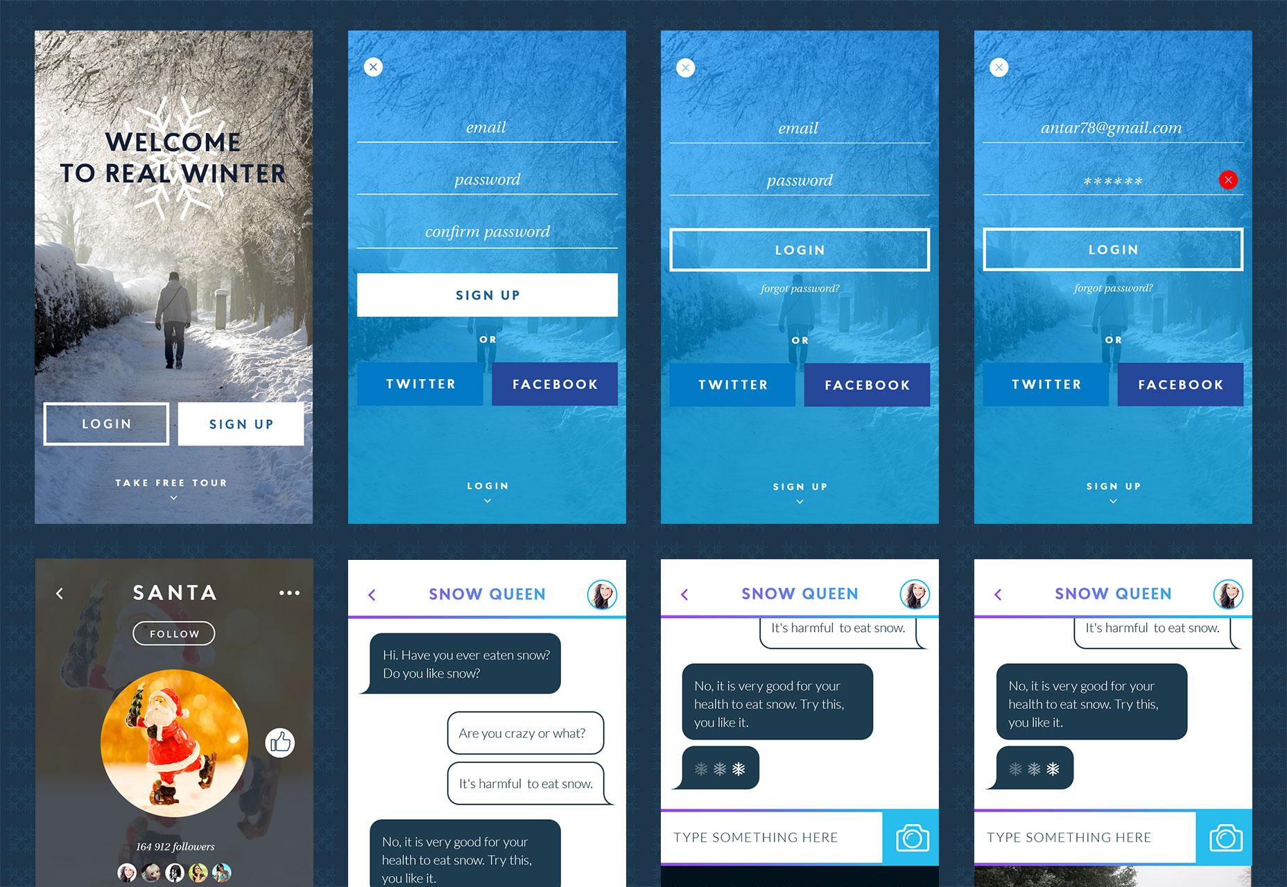 The best free ui kits february 2015 webdesigner depot winter ui kit maxwellsz