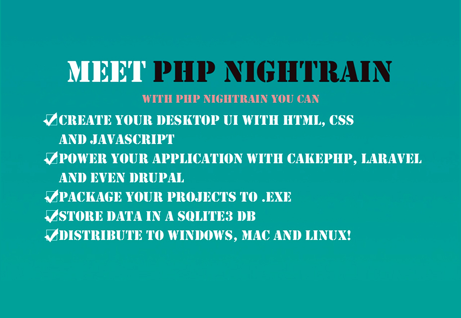Convert Your PHP Web Application to Windows, Mac and Linux!