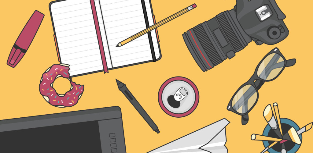 Free download: 59 flat-style illustrations