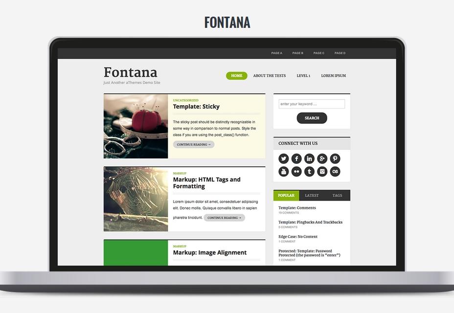 Fontana WordPress Theme