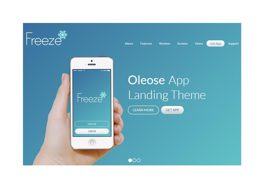 Oleose: Mobile App Landing Page