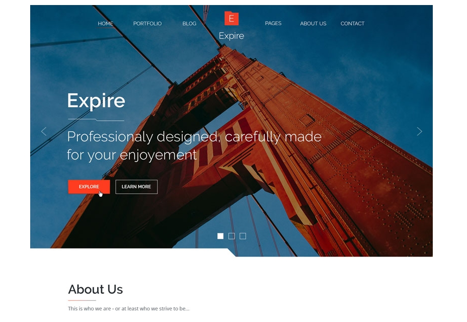 Expire PSD Theme