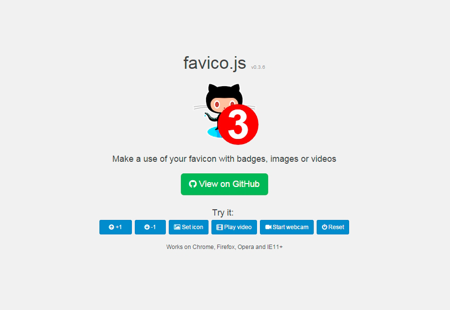 Favico.js: Make a Use of Your Favicon