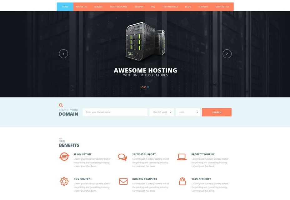 Hosting Web Template Designs