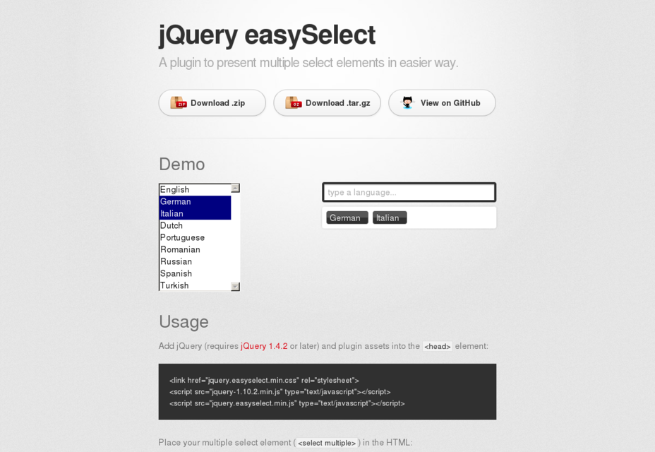 JQuery EasySelect