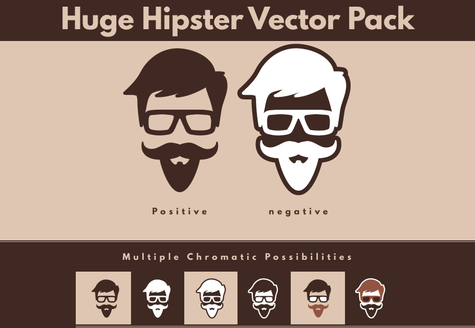 100 Free Hipster Vector Designs