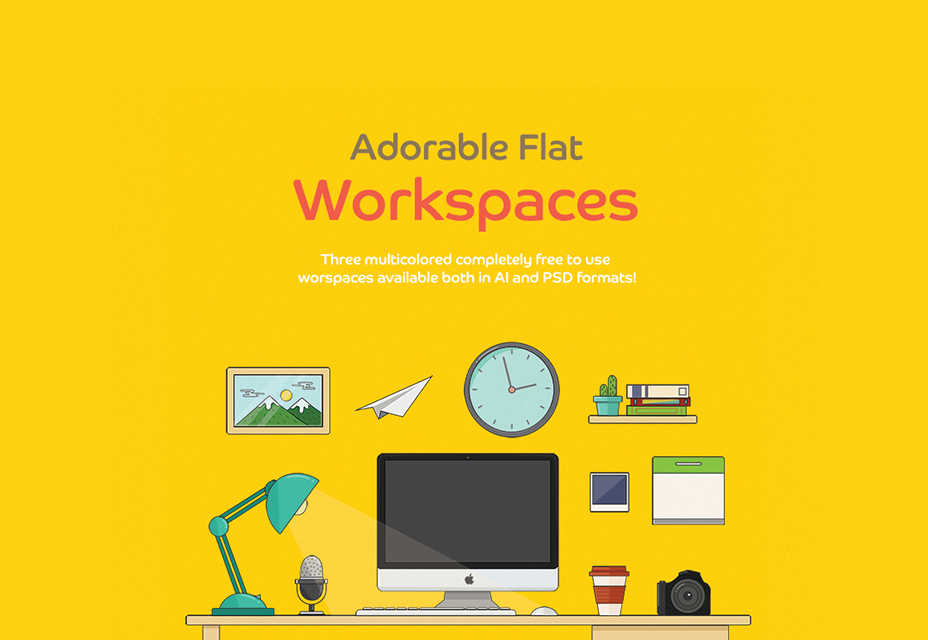 Adorable Flat Workspaces