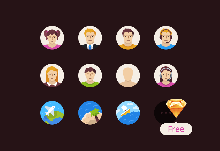 Flatflow Icons for Sketch