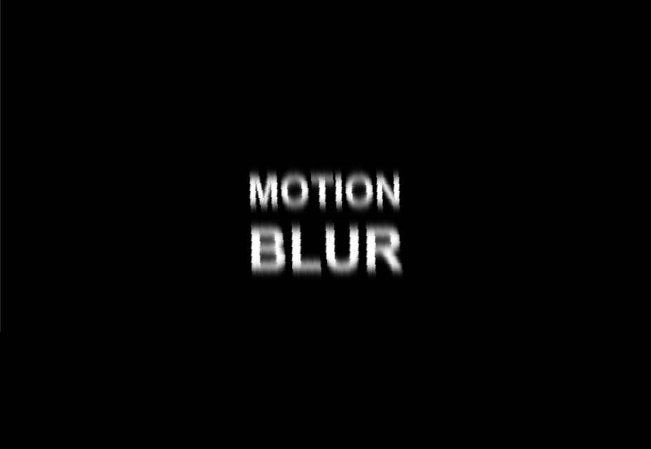 Motion Blur Effect