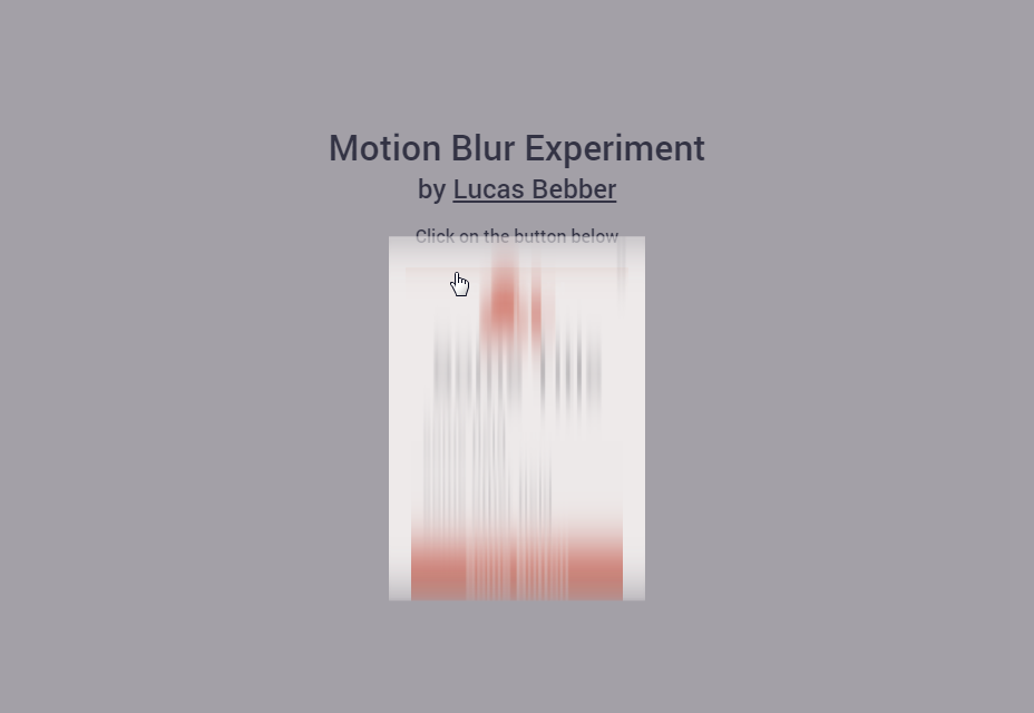 Motion Blur Experiment