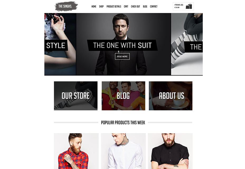 The Singhs: E-commerce PSD Template